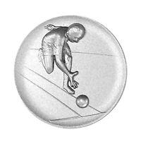 Metallemblem Kegler Ø50mm Emblem Abzeichen geprägt Reliefemblem | Pokale Meier