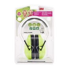 3M PELTOR H510AK-442-GB Kid Earmuffs 27 Db Neon Green Headband