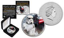 2018 Niue 1 oz Silver BU Star Wars STORMTROOPER Coin with DARTH VADER Backdrop