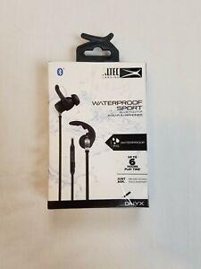Altec Lansing MZW101-BLK Waterproof Sport Bluetooth Wireless Earphones NEW