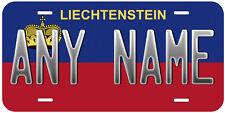 Liechtenstein Flag Aluminum Novelty Car License Plate