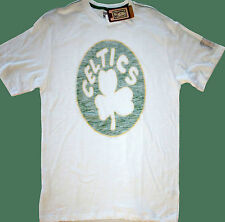 NWT NBA Boston Celtics Hardwood Classics Post Up White Kelly S/S T Shirt Large