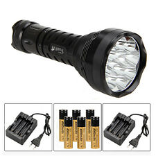 Rechargeable Tattico 15000Lm 12x XM-L R8 LED Torcia torcia 18650 Caricabatterie