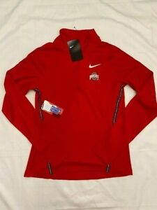 Nike Dri-Fit Ohio State Womens Zip Up Jacket Size S RED NEW NWT MSRP $70.00