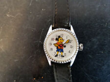 Vintage mickey mouse windup watch For Parts Or Repair