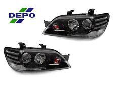 DEPO 02-03 Mitsubishi Lancer JDM Black Clear Corner Projector Headlight OZ Rally