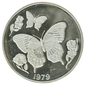 Jamaica - Silver 10 Dollars Coin - 'Butterfly' - 1979 - Proof
