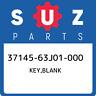 37145-63J01-000 Suzuki Key,blank 3714563J01000, New Genuine OEM Part