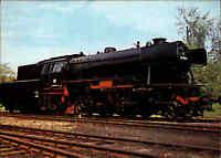 EISENBAHN Postkarte Lokomotive Dampflok Typ Baureihe 023 Personenzug Zug Bahn
