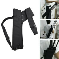 Archery Faretra Freccia 3 Tube Back Waist Shoulder Strap Bag Pouch Hunting No G