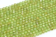4MM Genuine Natural Peridot Beads Grade AAA Faceted Round Loose Beads 15.5