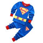 Kids Baby Boys Girls Cartoon Long Sleeve Pyjamas Pajamas Pjs Sleepwear Nightwear
