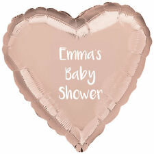"Personalised Rose Gold Baby Shower Hello World Party Balloon 18"" Foil Balloon"