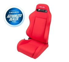 NRG Type-R Cloth Sport Seat - RED w/ Red Stitch (PAIR)
