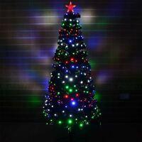 2ft, 4ft, 5ft, 6ft LED Fibre Optric Christmas tree Pre-Lit Xmas Tree