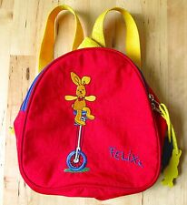 Felix Rabbit DIE SPIEGELBURG Children's Red Backpack Yellow Straps Germany