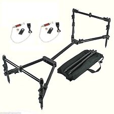NGT Nomadic Fishing Compact Rod Pod & 2 Bobbins & Bag  For  Carp Rods Reels Etc