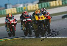 Andrea DOVIZIOSO hand signed scozzese RACING HONDA 12x8 FOTO 2004 125cc CHAMPION 2.