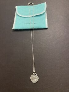 Return to Tiffany & Co.  Heart Tag Pendant Necklace Sterling Silver 925