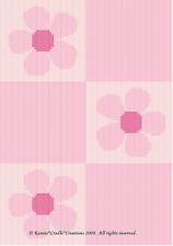 PINK DAISY FLOWERS Color Graph Crochet Pattern *EASY*