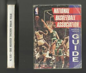 SPORTING NEWS 1973 - 1974 OFFICIAL NBA NATIONAL BASKETBALL ASSOCIATION GUIDE VTG