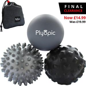 TOP 3 MASSAGE BALLS SET by PLYOPIC – Myofascial Muscle Pain & Plantar Fasciitis
