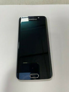 Very Good Used OEM Samsung Galaxy S6 Edge LCD Digitizer G925 W/Frame Blue Gold