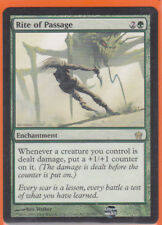 MTG Fifth (5th) Dawn 1 x RITE OF PASSAGE  (91/165) Rare Never played AS NEW