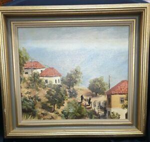 """HYDRA"" GREECE  BEAUTIFUL LANDSCAPE ORIGINAL BY MEG HERES"