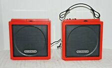 Vintage SEARS Red Portable Stereo 8-Track Player with Detachable Speaker