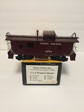 O Scale Sunset CA-1 Wood Caboose UP Red