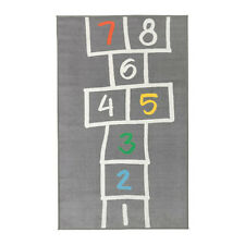 "NEW IKEA HEMMAHOS KIDS HOPSCOTCH RUG,GRAY 63 "" X 39 3/8 """