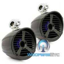 """MEMPHIS MXA82TS 8"""" GRAY 150W RMS MARINE BOAT WAKEBOARD TOWER LED SPEAKERS NEW"""