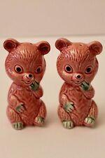 Vintage Pink Bears - Salt & Pepper shakers - Japan - GVC