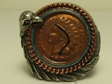 Bradford Exchange 1904 Indian Cent in Sterling Silver Mens Ring in Original Box