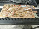 Antique & Vintage Fishing Lures & Spoons Wood,Metal,Rubber,Plastic Lot Of 78