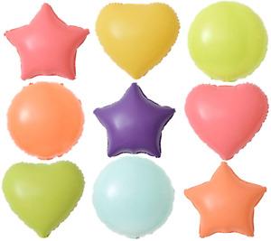 Macaron Pastel Heart Star Round Foil Balloon
