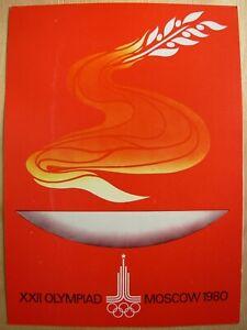 Sport POSTER Olympiad-1980 MOSOW Turkey Ertel Mengu Olympic rings Soviet game