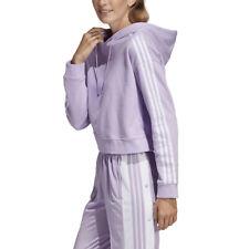 Adidas Originals Women's Cropped Hoodie Purple Glow DX2158 NEW