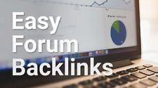 Forum 2000 profils Backlinks 3 jours de livraison Seo