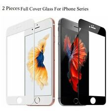 2Pcs Full Coverage Tempered Glass Screen Protector For iPhone SE 2020 8 7 6 Plus