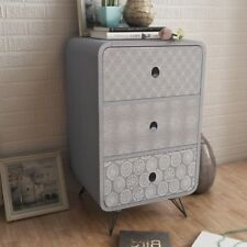 Vintage Industrial Side Table Retro Bedroom Furniture Bedside Cabinet Stand Unit