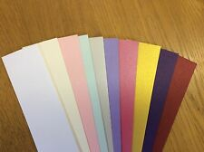 LUXURY PEARLY MIXED COLOURS 120gm PAPER FOR DIE CUTTING/LABELS/CRAFTS APPROX 160