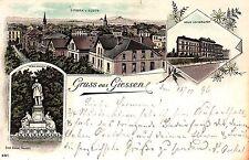 Giessen, Farb-Litho, frühe Karte, 1896
