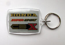 COLOUR MATCHED HONDA CBX1000 MOTO MARTIN KEY RING METALLIC SILVER RED BLACK