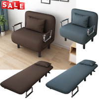 Convertible Sofa Bed Fold Arm Single Chair Sleeper Leisure Recliner Couch US HOT
