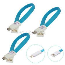 3 x Piatto Magnete Micro USB Dati Sincronizzazione Cavo Caricabatteria Per Samsung Galaxy S2 S1 S6