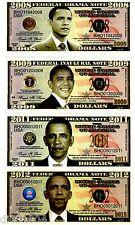 LOT 4 BANCONOTE FEDERAL USA OBAMA BANCONOTA STATI UNITI $ DOLLARI NUOVA UNC