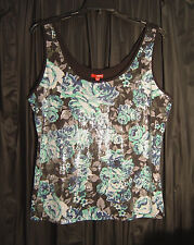 FULL FRONT SEQUINS KNIT TANK CAMI CAMISOLE TOP~JUNIOR/PLUS/MISSES~ 2X~0X~XL~XXL