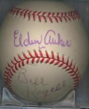 Elden Auker Bill Rogell 1935 Detroit Tigers Autographed OAL Baseball DECASED JSA